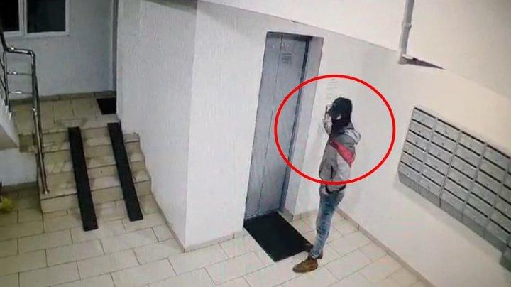 Se caută un HOȚ! A furat o bicicletă din scara unui bloc din Capitală