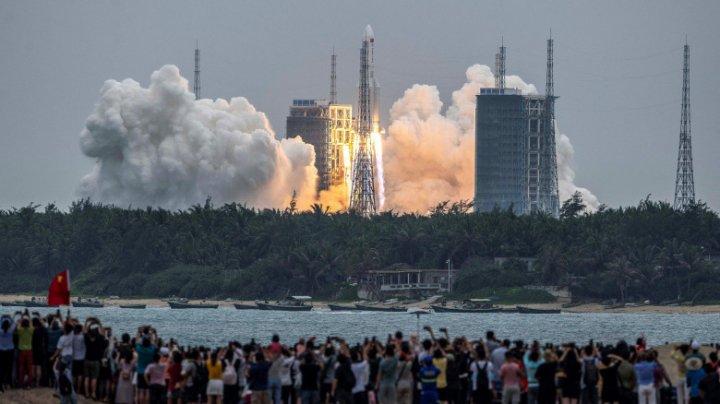 China a lansat primul modul din noua sa stație spațială