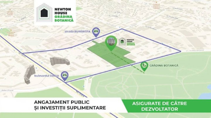 (P) Angajament public privind realizarea cerințelor deciziei CMC în proiectul Newton House Grădina Botanică și investiții suplimentare asigurate de către Dezvoltatorul imobiliar