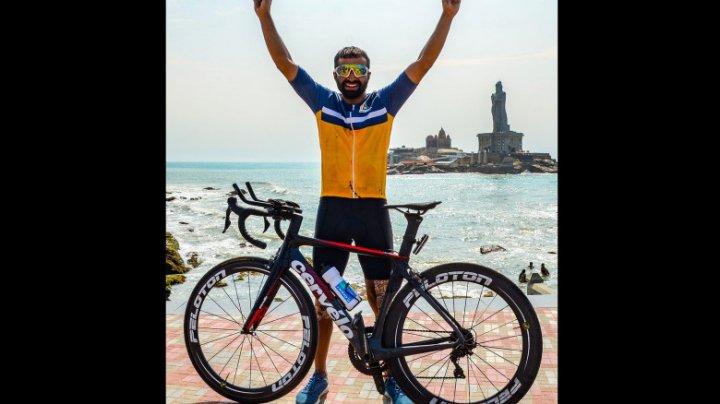 Un ciclist a străbătut India de la nord la sud în 8 zile şi o oră, doborând recordul mondial Guiness