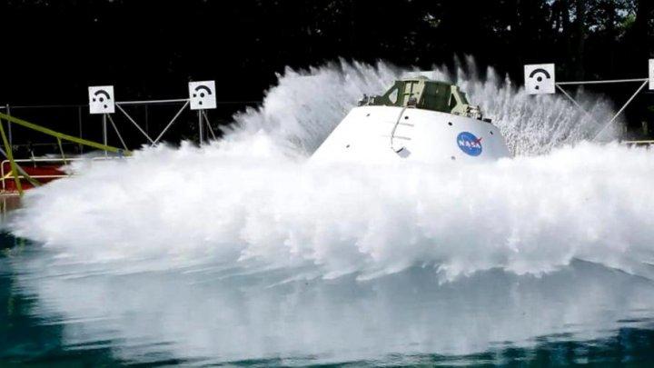 NASA a început testarea capsulei Orion în apă