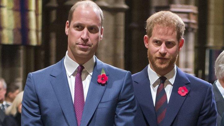 Harry şi William nu vor merge alături la înmormântarea prințului Philip