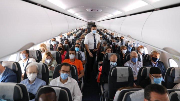 10% din oamenii aflați într-un avion venit din India, testați pozitiv la Roma