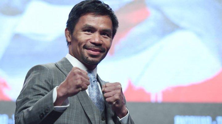 Manny Pacquiao revine în ring, după o pauză de doi ani