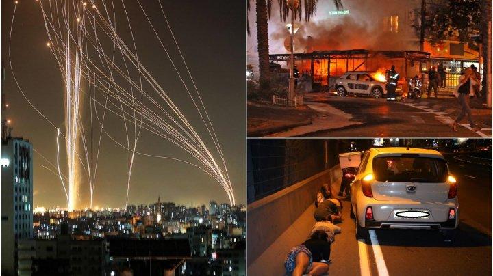 Forţele israeliene intensifică raidurile aeriene şi combat revoltele interne