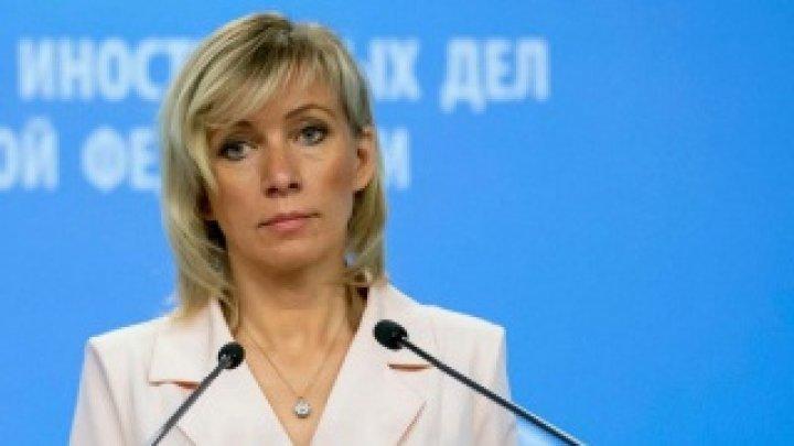 Zaharova: MAE rus condamnă tentativele SUA şi UE de a influenţa mersul alegerilor în Republica Moldova