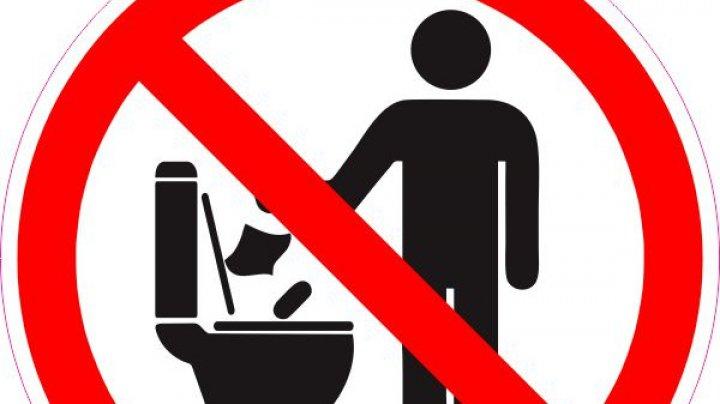 """Apă-Canal Chişinău, către locuitorii Capitalei: """"Protejați rețeaua de canalizare! Nu o confundați cu un coș de gunoi!"""""""
