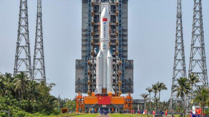 O parte din racheta care a dus pe orbită modulul primei stații spațiale chinezești a scăpat de sub control