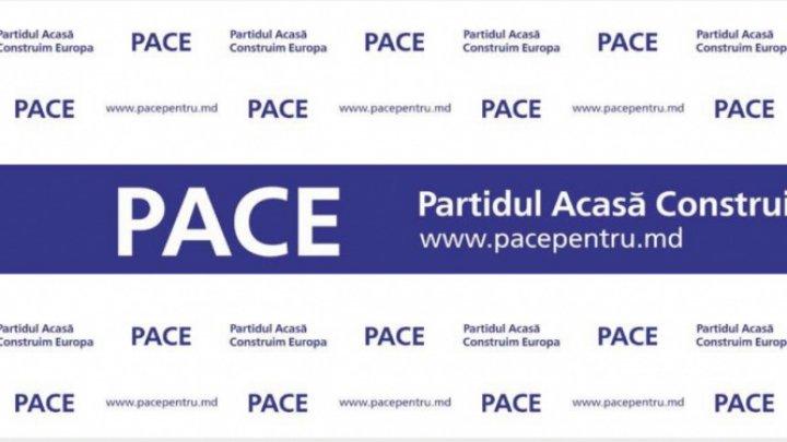 Partidul PACE au depus dosarele la CEC pentru a se înregistra în cursa electrală