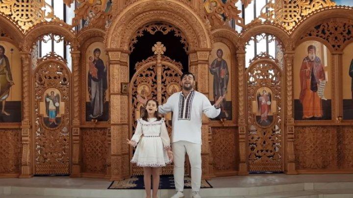 """Duet emoționant dintre tată și fiică. Valentin și Amelia Uzun au lansat """"Imnul Învierii"""" (VIDEO)"""