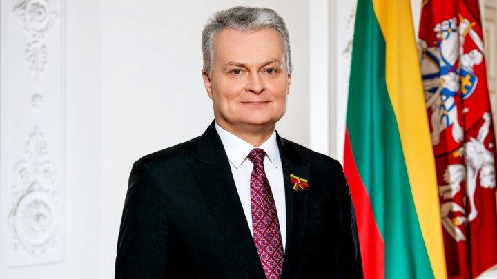 Președintele Lituaniei, Gitanas Nauseda, vine azi în vizită oficială la Chişinău