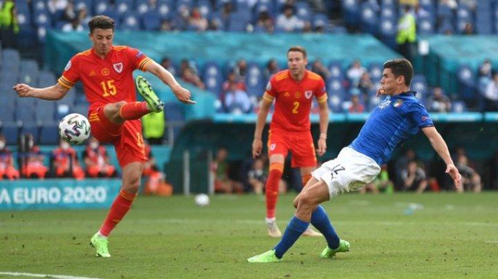 """""""Squadra Azzurra"""", de neoprit. Echipa națională a Italiei a obținut a treia victorie consecutivă la turneul final, reușind să învingă și Țara Galilor"""
