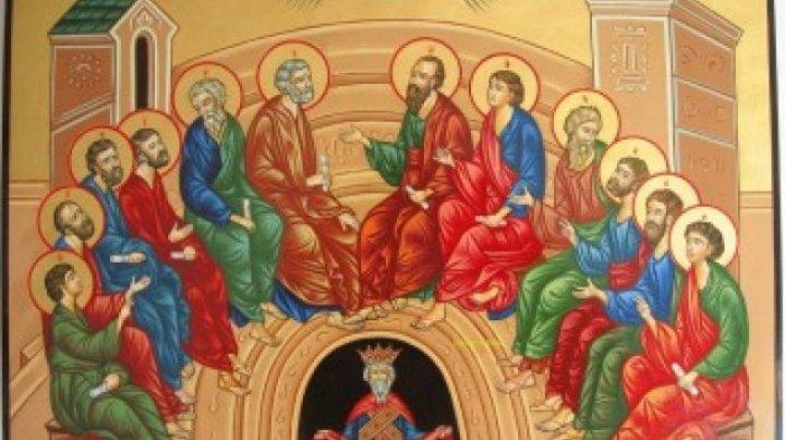 Creştinii ortodocşi sărbătoresc astăzi Duminica Mare, numită și Rusaliile sau Coborârea Sfântului Duh