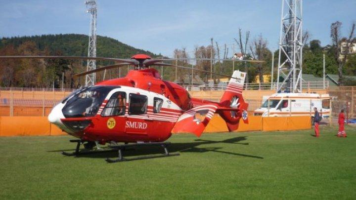 Elicopterul SMURD a fost solicitat pentru un bărbat, care s-a înecat cu mâncare şi a intrat în stop cardio-respirator