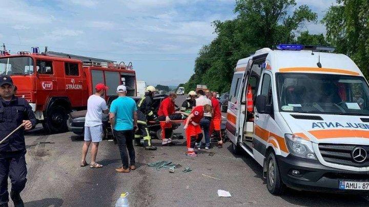 ACCIDENT CUMPLIT pe şoseaua Chișinău-Ungheni. Sunt VICTIME