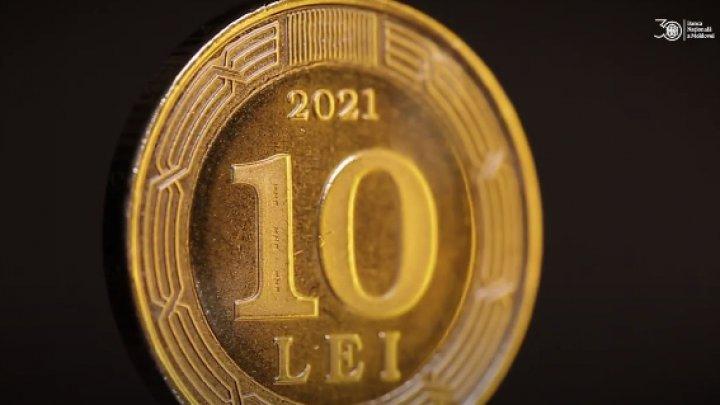 BNM a pus în circulație o monedă dedicată aniversării a 30-a de la înființarea Băncii Naționale a Moldovei