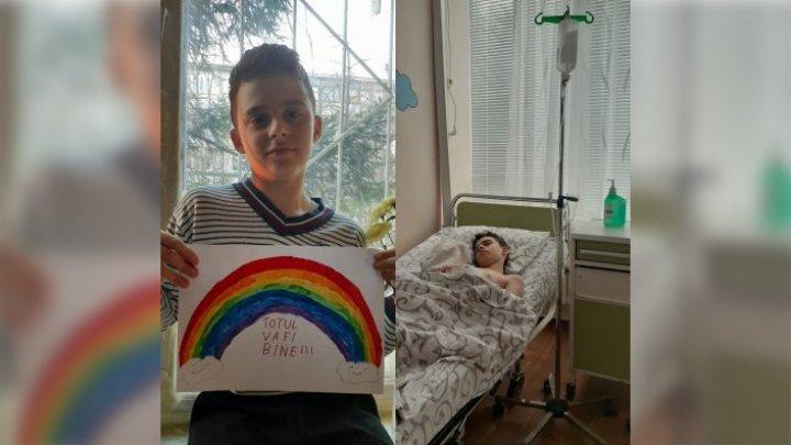 Un băiat de 12 ani din Chișinău trece prin CHINURI GROAZNICE. Alexandru a fost diagnosticat cu cancer, iar noi îl putem ajuta să trăiască