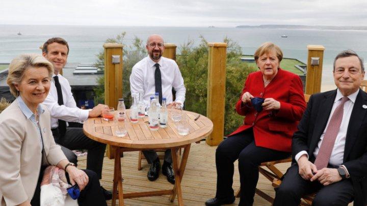 A început Summitul G7. Primele imagini  cu liderii UE la masă, după relaxarea restricțiilor în Europa