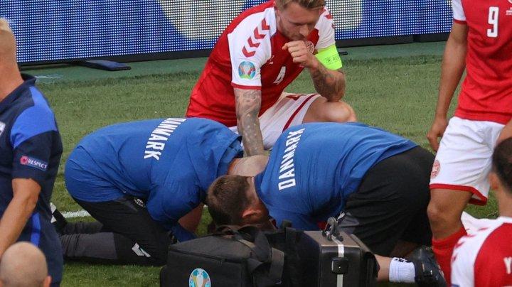 Imagini șocante la Euro! Eriksen a căzut pe gazon, fără suflare! Medicii au reușit să-l resusciteze