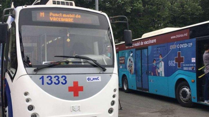 Unde vor staţiona astăzi punctele mobile de vaccinare împotriva COVID