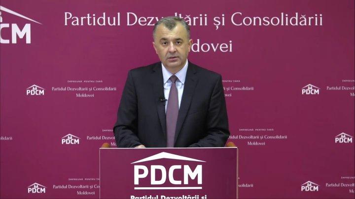 """Ion Chicu, primele declarații după închiderea secțiilor de votare: """"Ați votat pentru țară, pentru familii, pentru casă"""""""