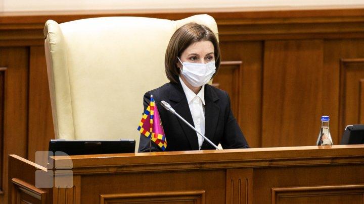 Maia Sandu va avea mâine negocieri cu fracţiunile parlamentare privind identificarea unui candidat la funcţia de premier