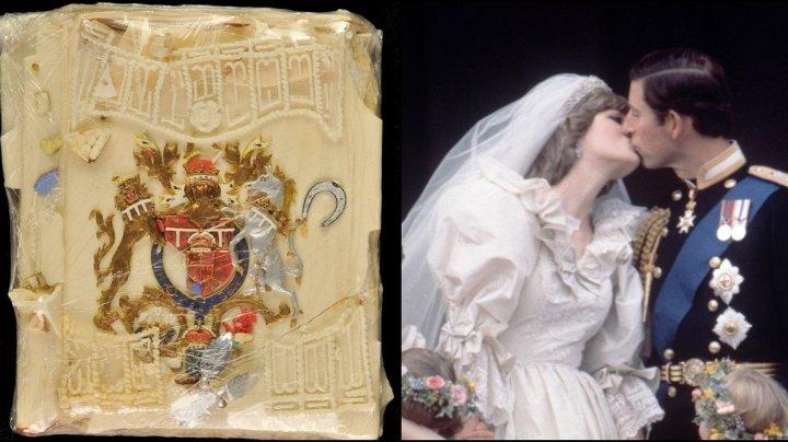 O felie de tort de la nunta Prinţului Charles cu Prinţesa Diana, scoasă la licitaţie după 40 de ani