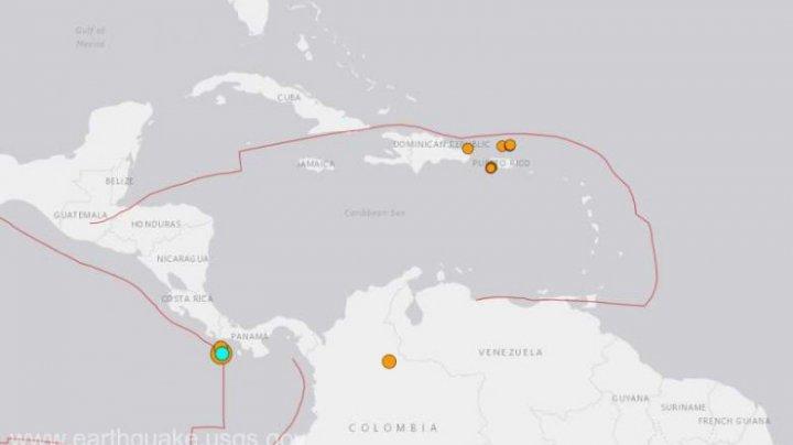 Un cutremur cu magnitudinea 6,7 s-a produs în Pacific, la sud-vest de Panama