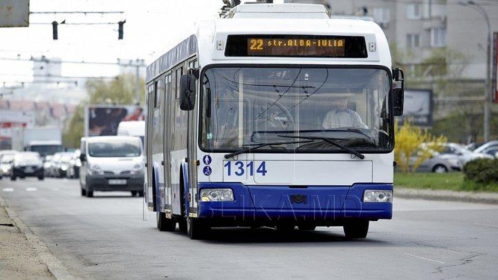 Rutele de troleibuz 21 și 22 revin parțial la itinerarul inițial