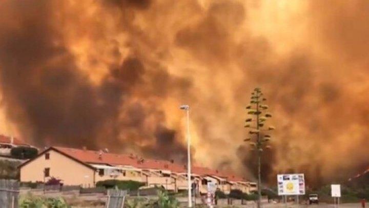 Sardinia se confruntă cu incendii catastrofale. Canada, Franţa şi Grecia au trimis în ajutor avioane