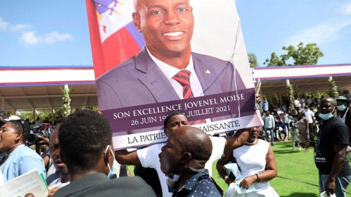 Focuri de armă la funeraliile preşedintelui haitian Jovenel Moise