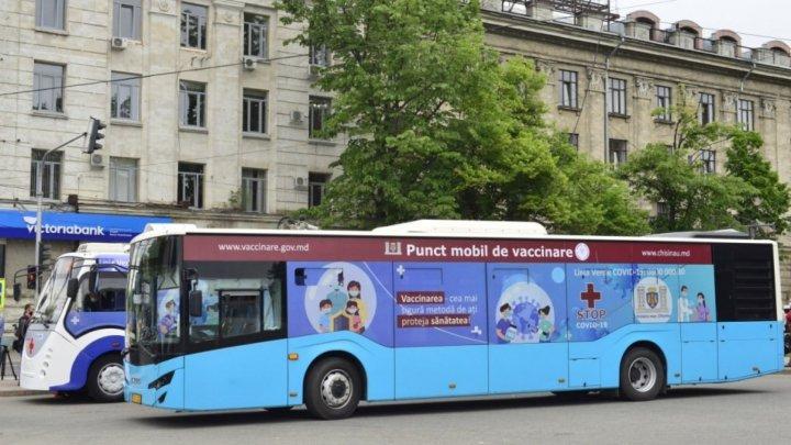 Unde vor fi amplasate astăzi punctele mobile pentru vaccinarea anti COVID-19