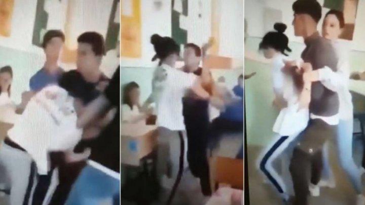 SCANDAL la un liceu din România. O fată şi un băiat s-au bătut cu sălbăticie
