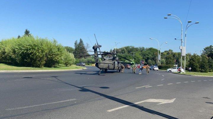 Motivul pentru care elicopterul american a aterizat în centrul Bucureștiului. Detalii din anchetă