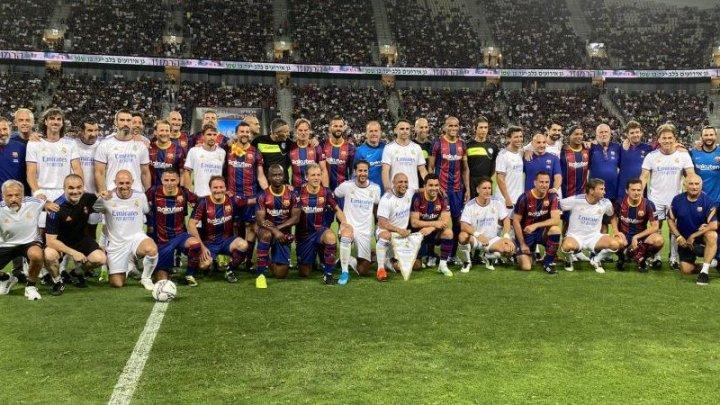 Legendele cluburilor Real Madrid și FC Barcelona s-au întâlnit într-o partidă istorică la Tel Aviv