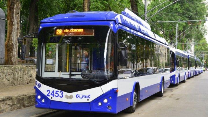 O nouă rută de troleibuz a fost lansată în Capitală. Vezi care va fi itinerarul acesteia