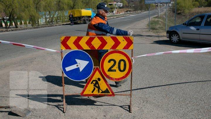 Atenție, conducători auto! Restricții de circulație în sectorul Buiucani