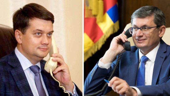 """Grosu a discutat la telefon cu Președintele Radei Supreme a Ucrainei: """"Ne-am înţeles să efectuam un schimb de vizite în cel mai apropiat timp"""""""