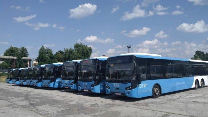 Alte 9 autobuze VDL din cele 40 de unități de transport cu parcurs din Olanda achiziţionate de municipalitate, au ajuns la Chișinău