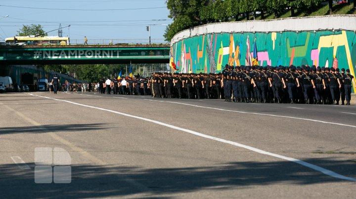 Fotoreport de la repetiția generală pentru parada militară de Ziua Independenței
