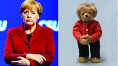 """Ursul de pluș Angela Merkel a apărut pe piață. Jucăria reproduce """"rombul Merkel"""""""