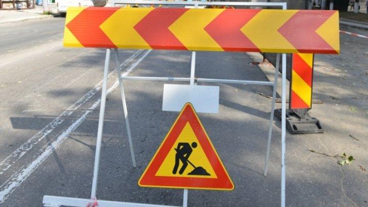 Atenție șoferi. Trafic suspendat pe o stradă din Capitală