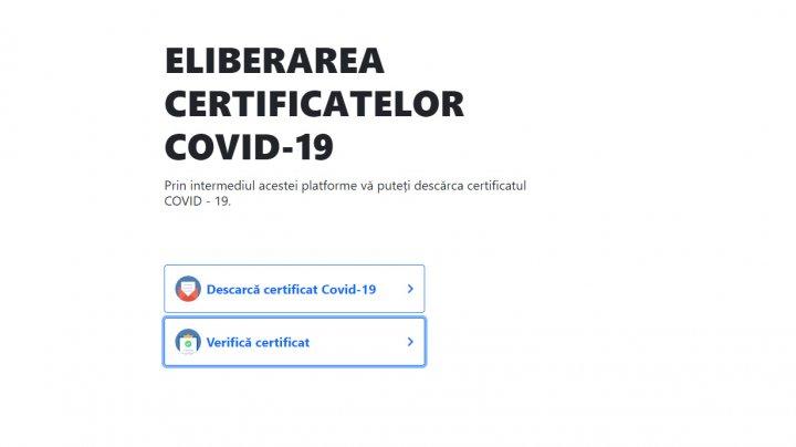 Noi decizii CNESP: Din 15 octombrie, moldovenii vor putea descărca online certificatul COVID-19