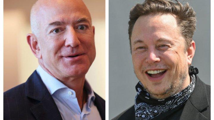 Musk, ironic la adresa lui Bezos după ce l-a depășit în clasamentul celor mai bogați oameni din lume