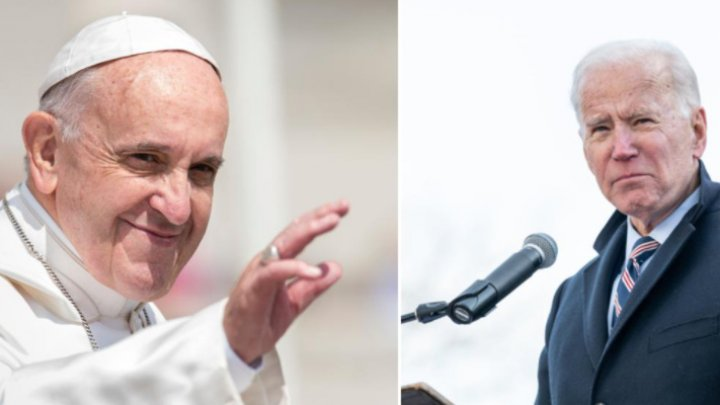 Joe Biden şi Papa Francisc se vor întâlni la Roma, în cadrul conferinţei G20, la sfârşitul lunii octombrie