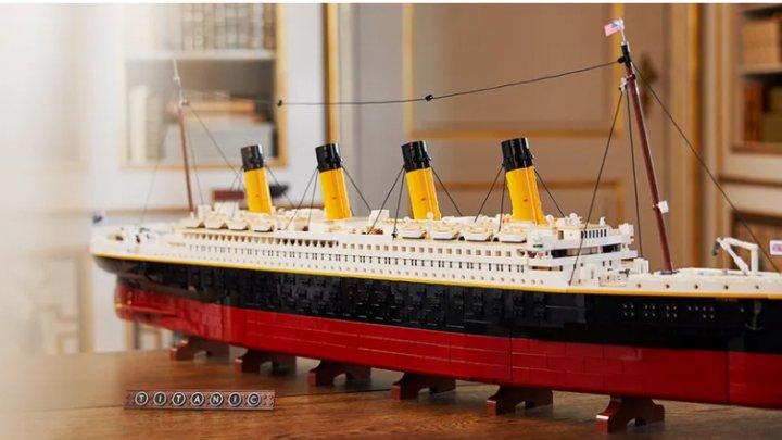 O machetă a vasului Titanic, cel mai mare Lego lansat vreodată. Câte piese conține (FOTO)