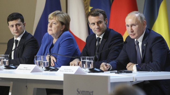Franţa, Germania, Ucraina şi Rusia au convenit să aibă o întâlnire la nivel ministerial pe tema încheierii conflictului ucrainean