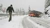 В Румынию пришла зима: в Предяле глубина выпавшего снега достигает десяти сантиметров