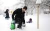 В США 12 человек стали жертвами снегопада