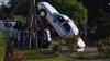 Американский полицейский во время движения отвлекся и его машина встала на дыбы